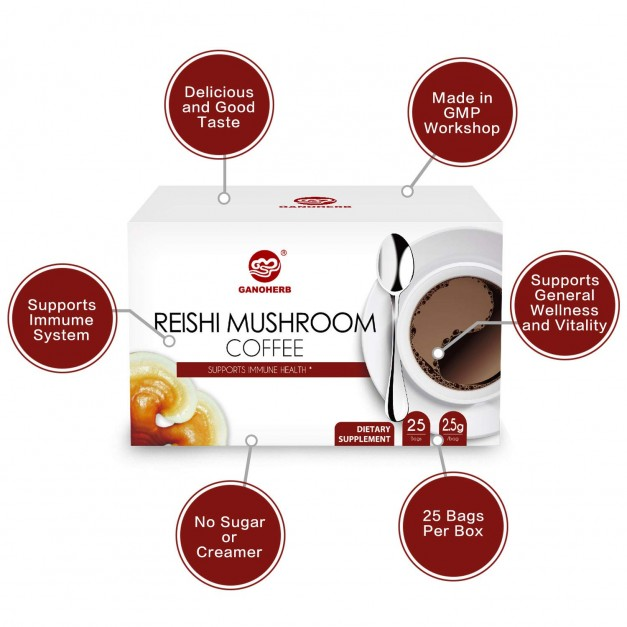 Lingzhi Coffee 2 In 1 Instant Black Coffee 2.5g x 25 Sachets